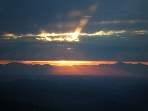 Sunrise from our home in Platina, CA