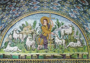 The Good Shepherd Mosaic in the Mausoleum of Galla Placidia, Ravenna, Italy